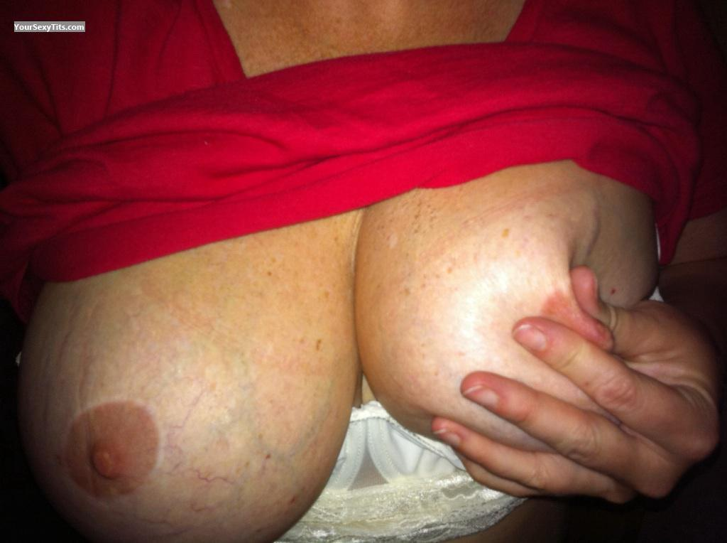 Tit Flash: My Very Big Tits By IPhone (Selfie) - Elizabeth1999 from United States